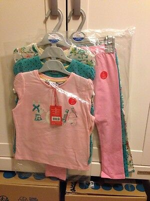 Mini Club 3 Leggings 3 Long Sleeve Tops 4-5Yr Bundle Little Bird Spot Girls BNWT