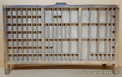 Vintage HAMILTON Industrial Wood Letterpress Type Print Drawer Miniature Display