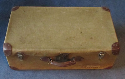CANVAS AND LEATHER TRAVEL TRUNK. LABELS ARE PULLMAN GOLDEN ARROW 1930s