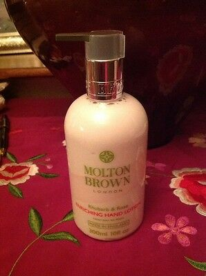 Molton Brown Enriching Hand Lotion In Rhubarb & Rose Scent 300ml New