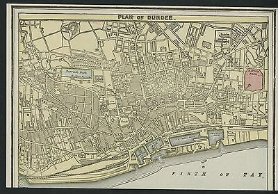 Dundee Scotland Street Map / Plan: Authentic 1899; Detailed but SMALL