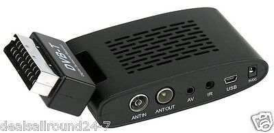 Scart Freeview Digital TV Receiver With USB & HDMI
