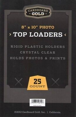 400 CBG 8 x 10 Hard Plastic Rigid Topload Photo Holders 8x10 toploaders -2 CASES