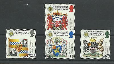 GB 1987  Order of the Thistle - 300th Anniversary    fine used set
