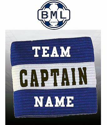 CAPTAIN ARMBAND with TEAM NAME - ADULT or JUNIOR - ROYAL BLUE