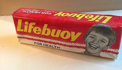 Fabulous Large Bar Lifebuoy Soap Original Pictorial Wrapping c1950/60