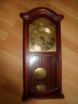 Fhs Hermle German Chiming Pendulum Wall Clock - Untested No Key