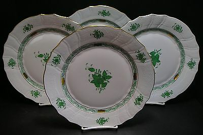 Herend Chinese Bouquet 4 Dinner Plates Never Used