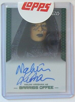 Topps Star Wars Chrome Perspectives NALINI KRISHAN Autograph as Barriss Offee