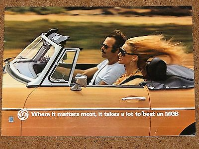 1976 MG MGB Sales Brochure in Very Good Condition