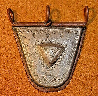 Antique Tuareg Tcherot Amulet Mixed Metals Tribal Pendant Collected Niger Africa