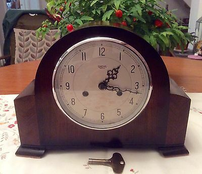 Smiths Enfield 'bim-Bam' Striking Mantel Clock - Working With Key