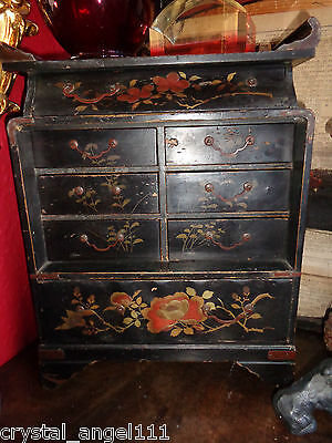 ANTIQUE  19thc  JAPANESE  LACQUER WARE  BOX / TABLE CABINET / JEWEL CABINET