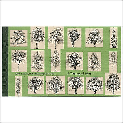 """GREAT BRITAIN:  Royal Mail Book of Millennium Stamps """"A TREASURY OF TREES"""""""