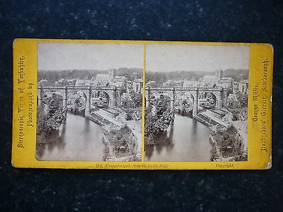 Stereoview Image By George Willis Knaresborough From The Castle Hill Yorkshire
