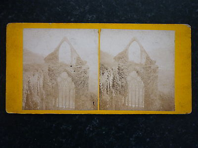 Stereoview Nice Early Image Ruins Of Tintern Abbey