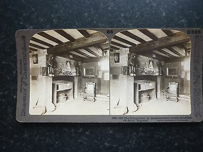 Stereoview Image Of The Living Room In Shakespeare's House Stratford On Avon