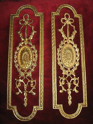 HEAVY VINTAGE QUALTITY GILT DOOR / FINGER PLATES - 10.5 inches