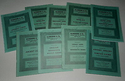 10 X GLENDINING AUCTION CATALOGUES - Mostly Ancient & English Coins  1980's