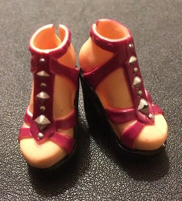 Barbie My Scene Doll Clothes Chelsea's Bling Bling Red Stud Wedge Shoes