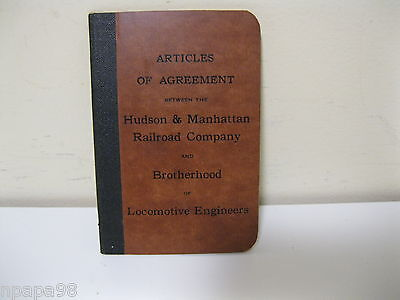 VINTAGE Agreement HUDSON & MANHATTAN RAILROAD COMPANY WITH LOCO ENGINEERS 1927