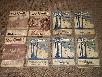 """1928 to 1930 Eight Editions  """"The Guide"""" Magazine Official Organ Of Girl Guides"""