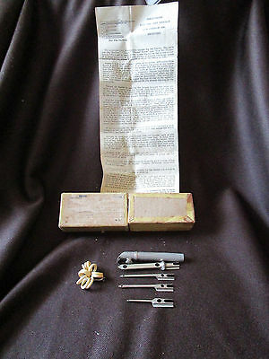 French Embroidery Rare1922 Art Needle  Set Instructions & Sewn Corners Med Box
