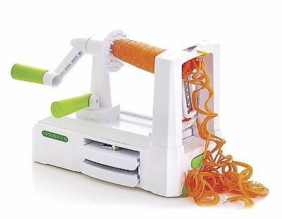 Spiralizer 3 Tri Blade Spiral Slicer Fruit Vegetable Cutter Peeler Pasta Maker