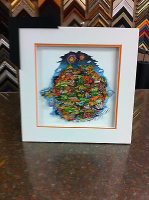"Charles Fazzino "" Like No Other Place... Orange County "" 3-D Art Deluxe Framed"