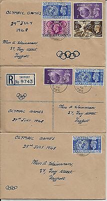 Three small 1948 Olympic Games first day covers with Tayport, Fife, postmarks