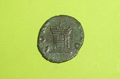 SCARCE Ancient ROMAN COIN altar VALERIAN II 256-258 AD old authentic artifact VG
