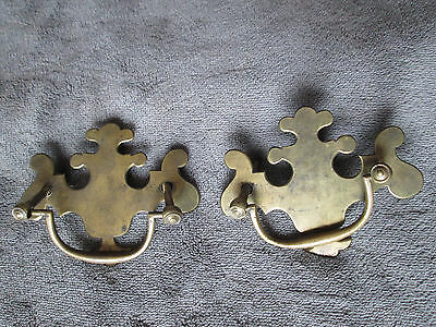 Vintage Drawer Pull Lot of 2 Hardware Handle Chippendale 3.5""