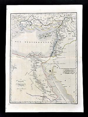 1830 Langlois Atlas Map Ancient Egypt Palestine Syria Cypress Israel Alexandria