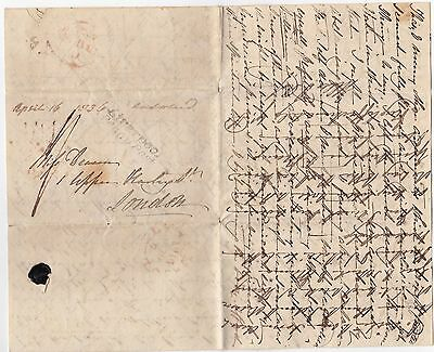 1836 Liverpool Penny Post Cross-Written Chatty Letter To A Miss Deacon London