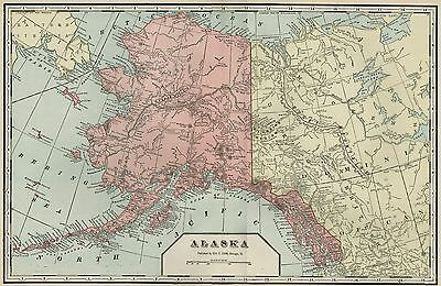 ALASKA Territory: Authentic 1899 Map; Large, Much Uncharted