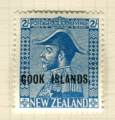 COOK ISLANDS;   1932-6 early NZ Admiral Optd Mint hinged 2s. value