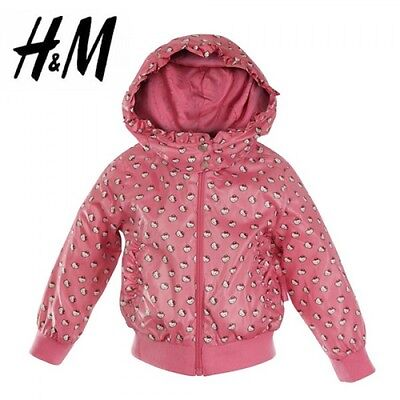 H&m Girls Todlers Stylish New Hello Kitty Hooded Pink Jacket: Aged 2 - 3 Years