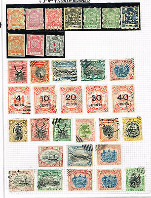 Borneo Seven Pages  F-Vf Mint And Used F-Vf (June16