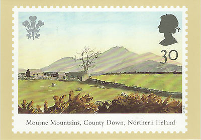 Mourne Mountains County Down Northern Ireland 1994 Fdi Royal Mail Phq Postcard