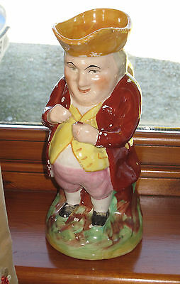 Antique Staffordshire Toby Jug Snuff Taker YELLOW Tricorn Hat Victorian Late 19C