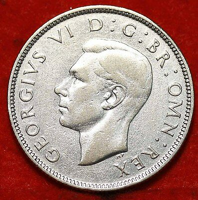 1940 Great Britain 2 Shillings Silver Foreign Coin Free S/H