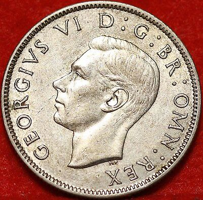 1943 Great Britain Florin Silver Foreign Coin Free S/H