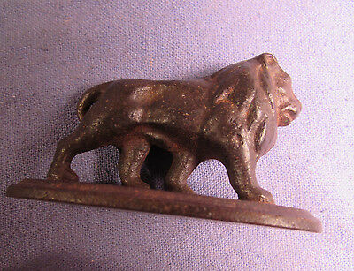 Nice Antique Cast Iron Lion Paperweight