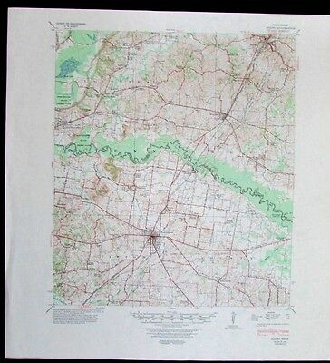 Rialto Tennessee Covington Henning vintage 1948 old USGS Topo chart