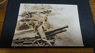 Original Wwii Japanese Photo: Army Artillery And Crew!!!