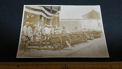 Original Wwii Japanese Photo: Army Artillery Cannons, China War!!