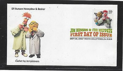 Muppets Fdc 2005 North Hollywood, California Only One Made Jim Henson