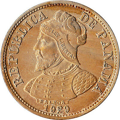 1929 Panama 2-1/2 Centesimos Coin KM#8 High Grade
