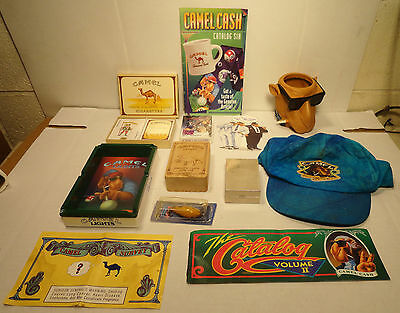 Lot / 13 Collectible Camel Joe Cigarette Advertising Cards Ashtray Cases  +