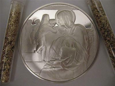 1.3-Oz .925 Silver Proof Coin (Madonna Of Stairs).genius Michelangelo + Gold